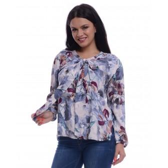 Bluza Dama Multicolora cu Funda Ampla