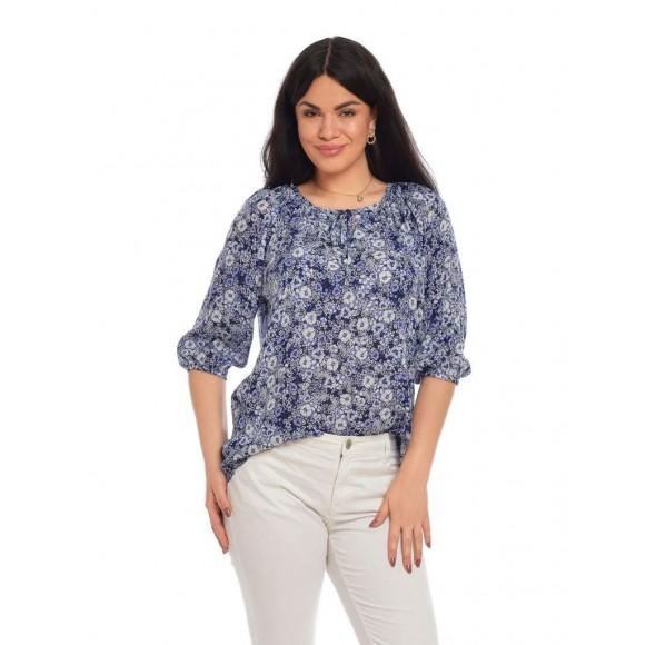 Bluza Dama tip Ie Floral Albastru