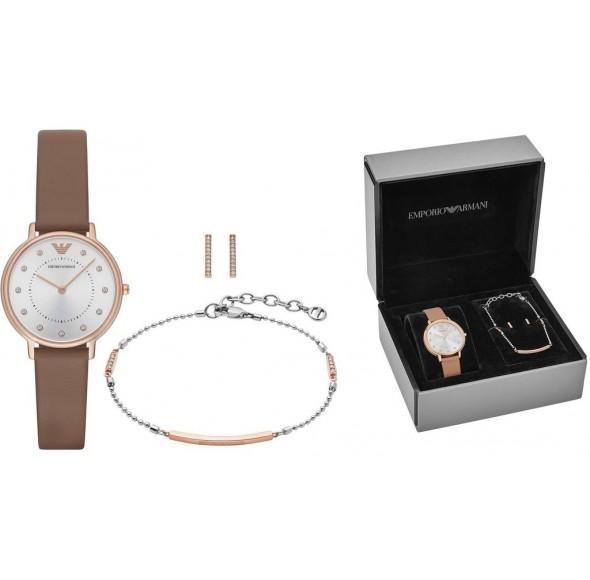Ceas Dama, EMPORIO ARMANI KAPPA Special Pack + Bracelet & Earrings AR8040