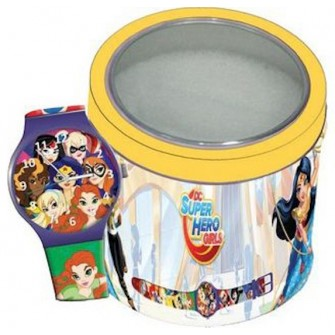 Ceas Junior SUPER HERO GIRLS - Tin Box 504919