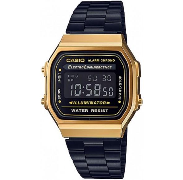 Ceas Barbati Casio Vintage Gold Black A168WEGB-1B