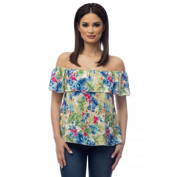 Bluza multicolora dama model floral