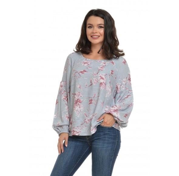 Bluza Dama cu maneca bufanta si model floral