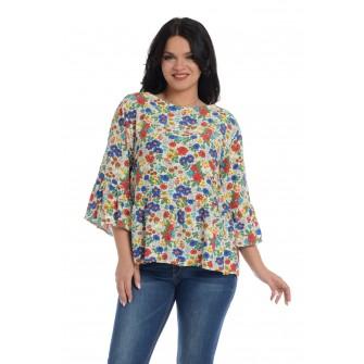 Bluza Dama cu Volane si Imprimeu Floral