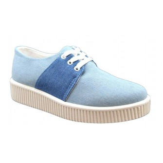 Pantofi Sport dama albastri cu talpa groasa