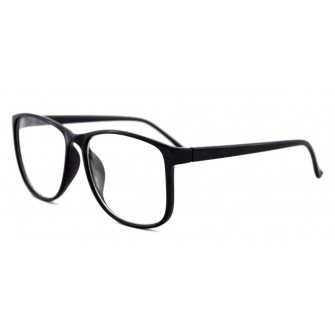 Ochelari cu lentile transparente Wayfarer Justin - Negru