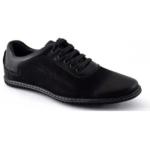 Pantofi Casual Barbatesti negri 2 WD2-