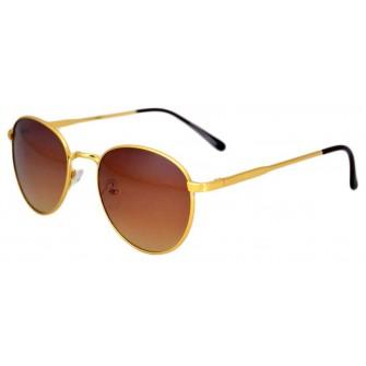Ochelari de soare model Aviator, Maro - Auriu