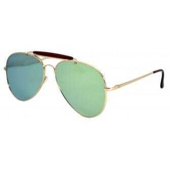 Ochelari de soare Outdoorsman Verde deschis reflexii - Auriu