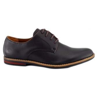 Pantofi barbatesti negri cu bordura rosie