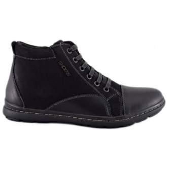 Pantofi Sport Barbatesti negri Inalti ShoeNS