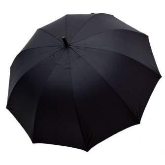 Umbrela tip baston, barbati, automata, neagra gri metalizat 140cm diametru - articulatii anti-vant