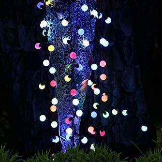 Instalatie decorativa, ghirlanda luminoasa Craciun exterior sau interior pentru Brad si casa, 100 bulbi led - Multicolora 10m