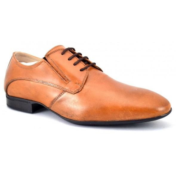 Pantofi Barbatesti Maro deschis Piele Naturala - FG Shoes