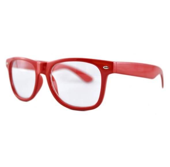 Ochelari - Rame cu lentile transparente tip Wayfarer Passenger Rosu
