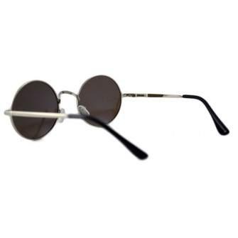 Ochelari de soare Rotunzi Retro John Lennon Albastru cu reflexii - Argintiu