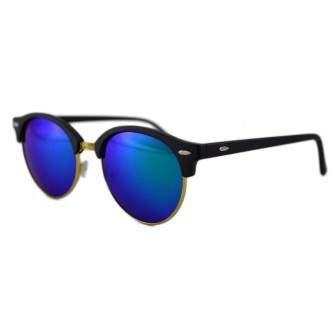 Ochelari de soare Retro II verde cu reflexii - Auriu'