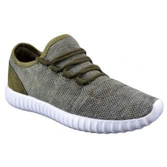 Pantofi Casual Sport Barbati Verzi Panza Talpa Usoara din Spuma