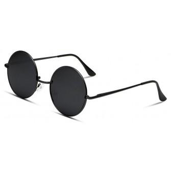 Ochelari de soare Rotunzi Retro John Lennon Negru - Negru