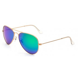 Ochelari de soare Aviator Verde cu Gold Polarizati
