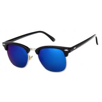 Ochelari de soare Clubmaster Retro Albastru inchis cu Negru
