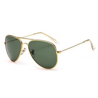 Ochelari de soare Aviator Verde - Auriu - Polarizati