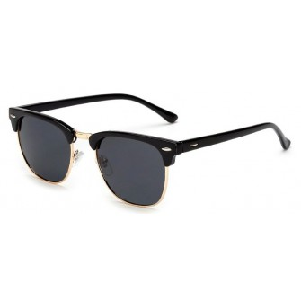 Ochelari de soare Clubmaster Retro Bleumarin - Auriu