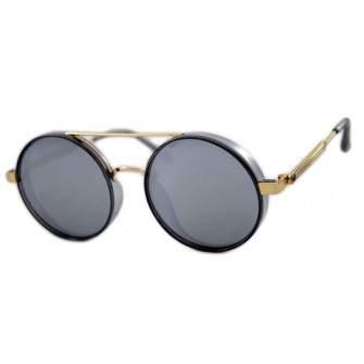 Ochelari de soare Rotunzi Gri Oglinda cu Auriu