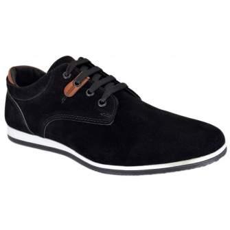 Pantofi barbatesti Negri piele intoarsa - Gado