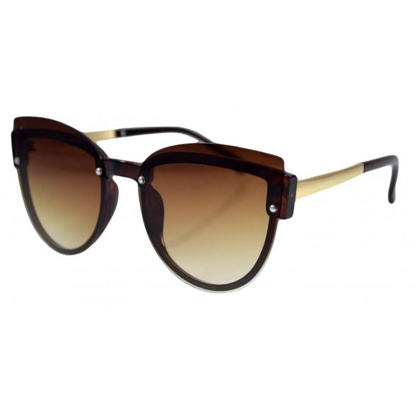 Ochelari de soare Dama Ochi de Pisica Maro - Auriu