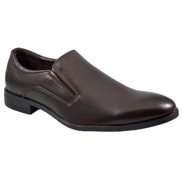 Pantofi barbatesti maro eleganti Slip-on