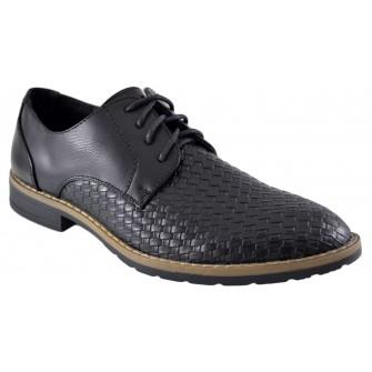 Pantofi negri barbati model Aligator