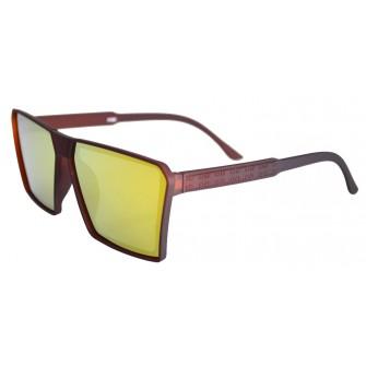 Ochelari de soare Rectangular Plat II Maro - Galben-
