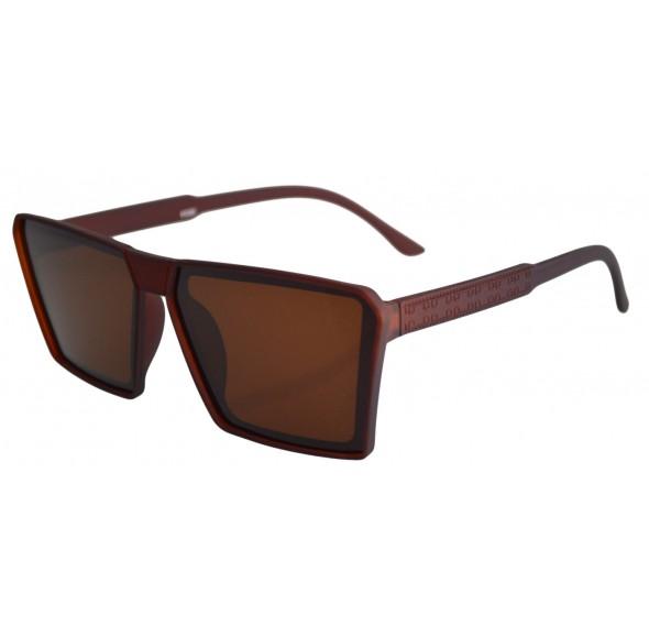 Ochelari de soare Rectangular Plat II Maro - Maro