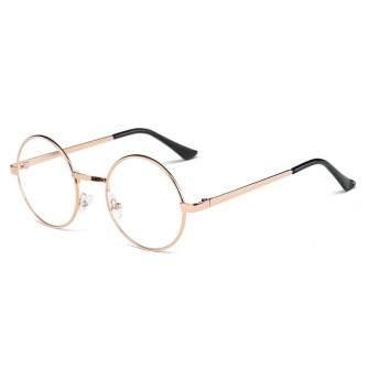 Ochelari - Rame cu lentile transparente Harry Potter Rotund John Lennon cu Auriu