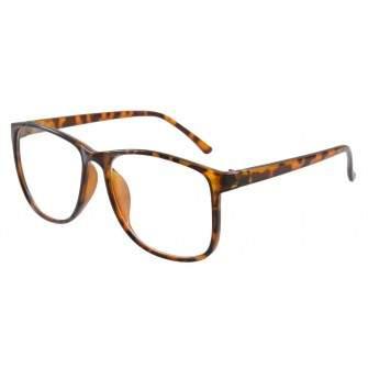Ochelari cu lentile transparente Wayfarer Justin - Leopard