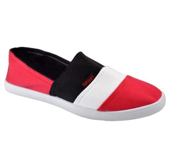 Espadrile barbatesti rosii 3 stripes