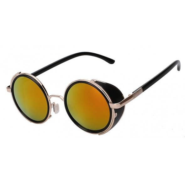Ochelari de soare Rotunzi Steampunk Gold