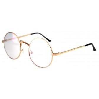 Ochelari - Rame cu lentile transparente sidefate Harry Potter Rotund John Lennon cu Auriu