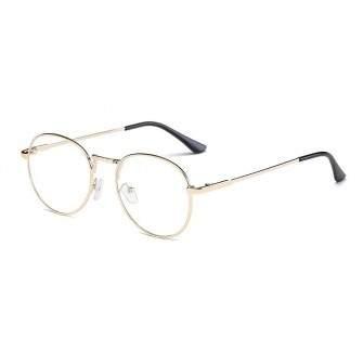 Ochelari - Rame cu lentile transparente Harry Potter Semirotund Oval John Lennon Auriu