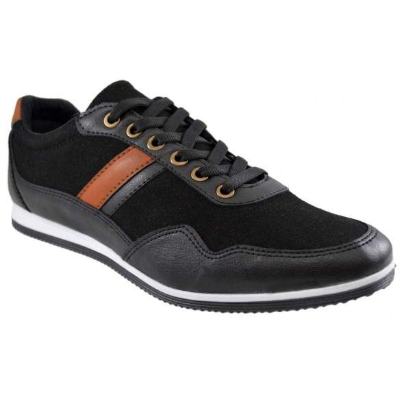 Pantofi Barbati Casual Negri Piele Intoarsa- Roadster