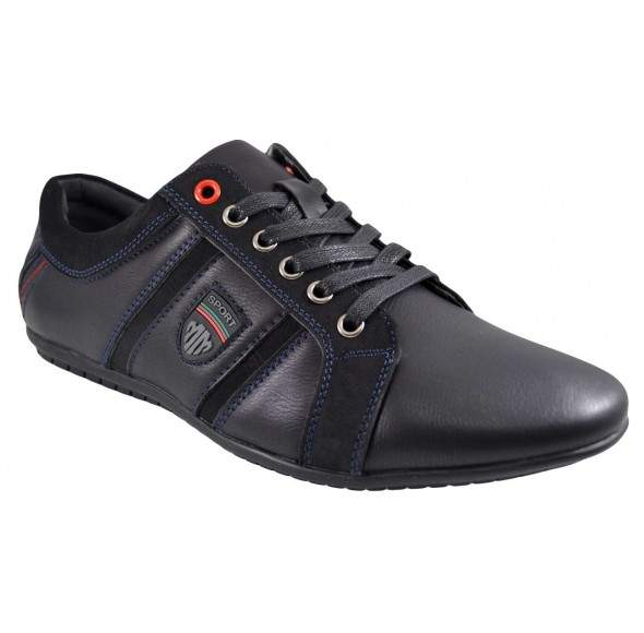 Pantofi Casual Barbatesti negri Moneymaker - MM