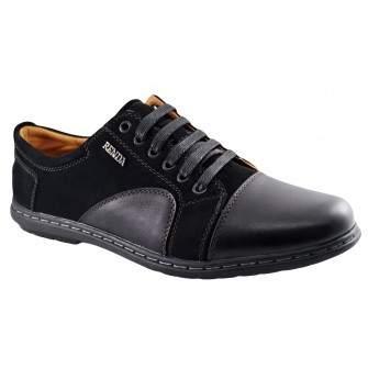 Pantofi Casual Barbatesti negri Renda