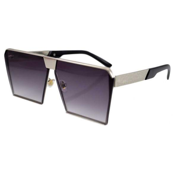 Ochelari de soare Rectangular Plat Gri Argintiu lentila degrade
