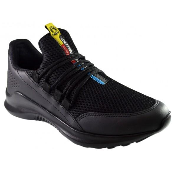 Pantofi Casual Barbati, Negri din Panza, Talpa Usoara din Spuma