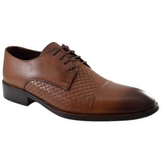 Pantofi Maro Barbati, model Impletit din Piele Naturala
