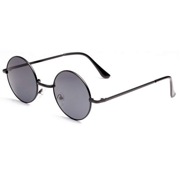 Ochelari de soare Rotunzi, Negru Degrade, Retro John Lennon