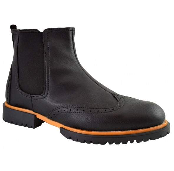 Ghete Barbati Negre Chelsea Brogue