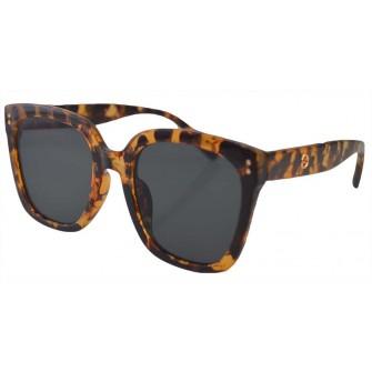 Ochelari de Soare Dama Rectangular Oversized Maro Leopard
