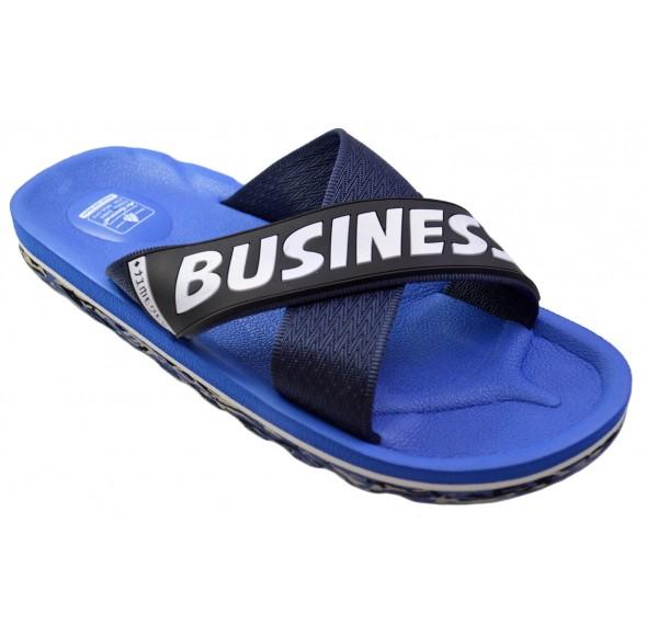 Papuci de plaja barbati, albastri, Design XCross - Business